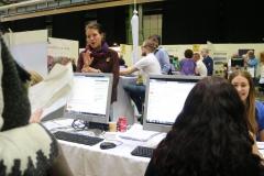 Även teckenspråkstolkar fanns på plats, här tekenspråkstolk Jennie
