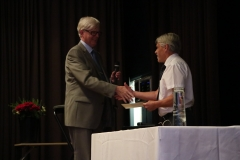 Donald Freij fick Genealogisk Ungdoms stipendium.